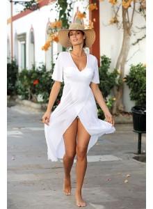 Dolga tunika za na plažo in sprehode - bela